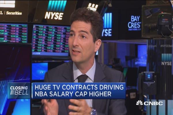 Huge TV contracts driving NBA salary cap higher