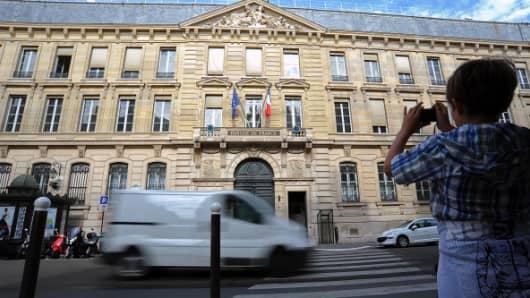 The Banque de France headquarters in Paris, France.