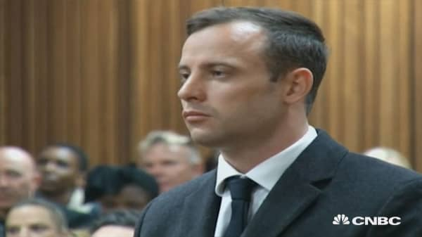Pistorius sentenced to 6 years in prison.