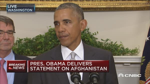 Pres. Obama: Leaving 8,400 troops at yearend