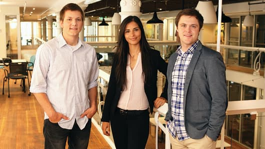 (From left to right) SimpleCitizen co-founders Brady Stoddard, CMO; Aydé Soto, CTO; and Sam Stoddard, CEO