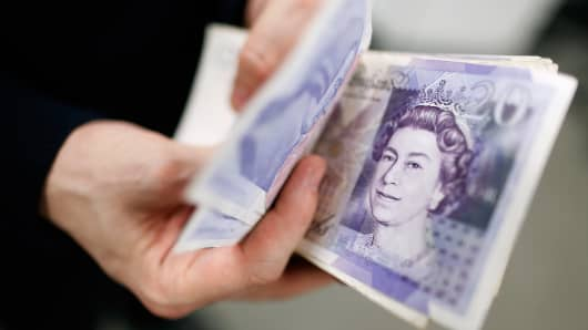 Sterling pound notes