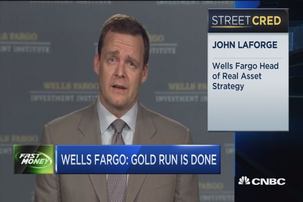 Wells Fargo: Gold run is done