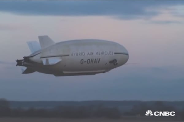Luxury blimps ready for the skies