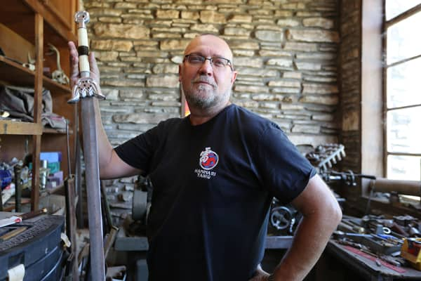 Daniel Watson founded Angel Swords more than 30 years ago and still works on each sword he sells.