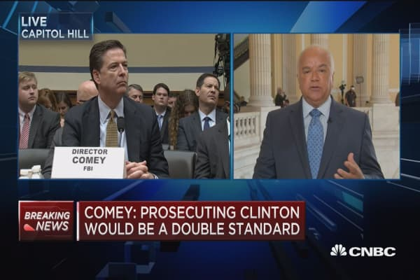 Comey grilled on all sides