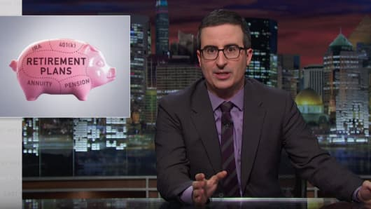 "Comedian John Oliver takes a shot at non-fiduciary financial advisors and their spiraling 401(k) fees on a recent segment of ""Last Week Tonight."""