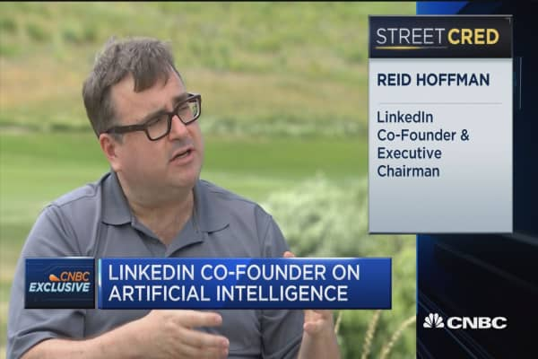 LinkedIn's Hoffman: AI will eventually affect professional spheres
