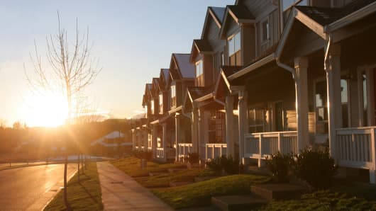 Sunset and housing