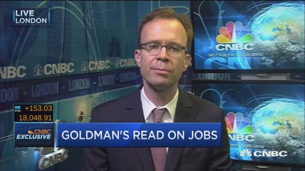 Goldman's read on jobs