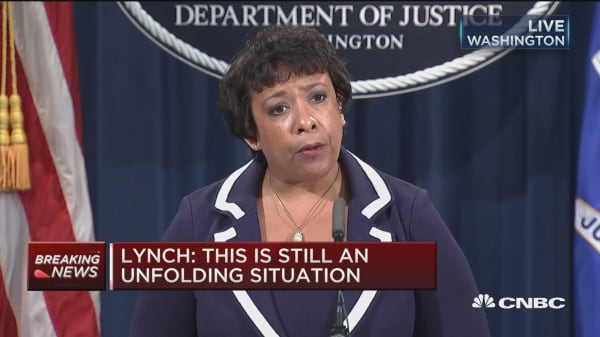 AG Lynch: The answer must not be violence