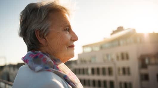 Retired woman, elderly