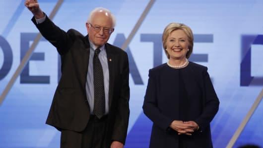 Senator Bernie Sanders and Hillary Clinton