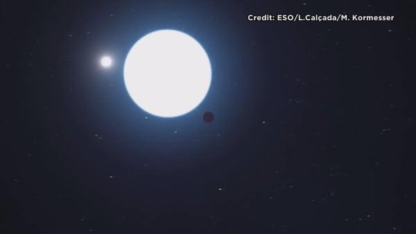 Far-off planet has three suns