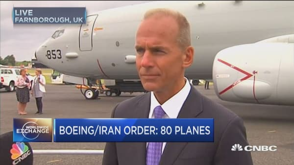 Boeing's $17.6B Iran deal needs gov't approval: CEO