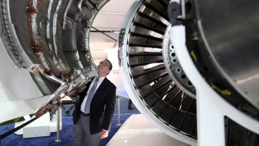 A United Technologies Corp. Pratt & Whitney PurePower PW1000G engine.