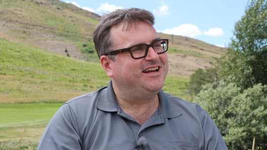 Reid Hoffman, co-founder and chairman of LinkedIn, Sun Valley conference in Sun Valley, Idaho, on July 7, 2016.