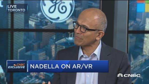 Nadella, Immelt talk HoloLens