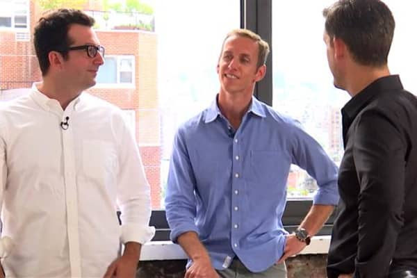 Harry's cofounders and co-CEOS Jeff Raider and Andy Katz-Mayfield in their New York City headquarters.