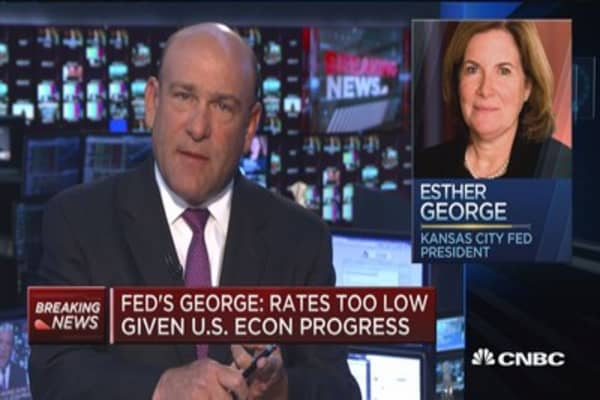 Fed's George: Rates are too low