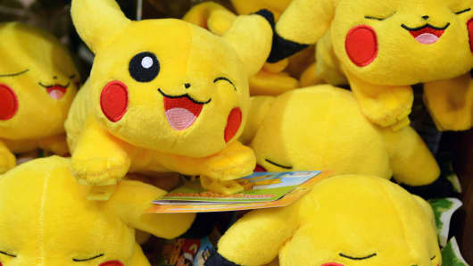 Pokemon figures are seen at the International Tokyo Toy Show 2016 in Tokyo, Japan June 10, 2016.