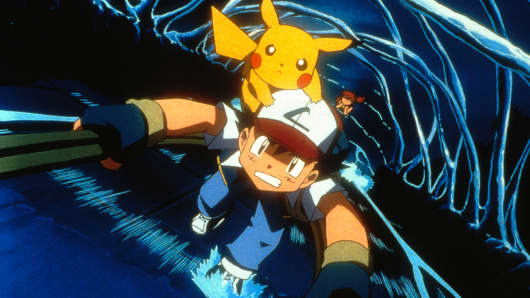 Ash and Pikachu in 4Kids Entertainment's animated adventure 'Pokemon3'