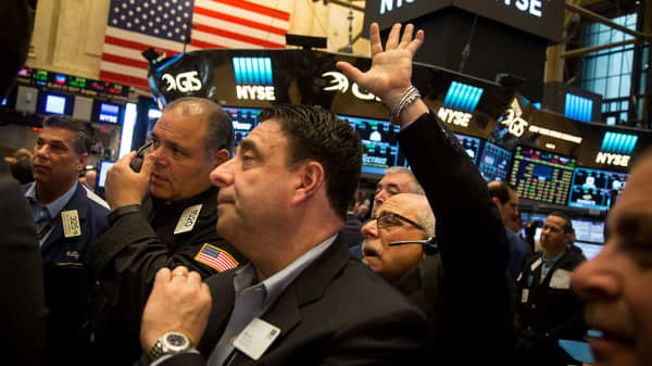 NYSE Traders, Hand up, five