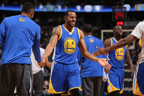 Andre Iguodala, #9 of the Golden State Warriors