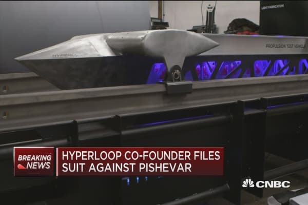 Hyperloop co-founder files suit against Pishevar