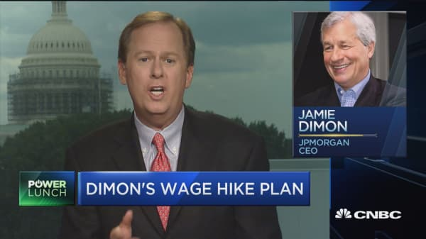 Dimon's wage hike plan
