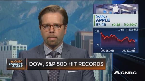 Apple at bottom of barrel