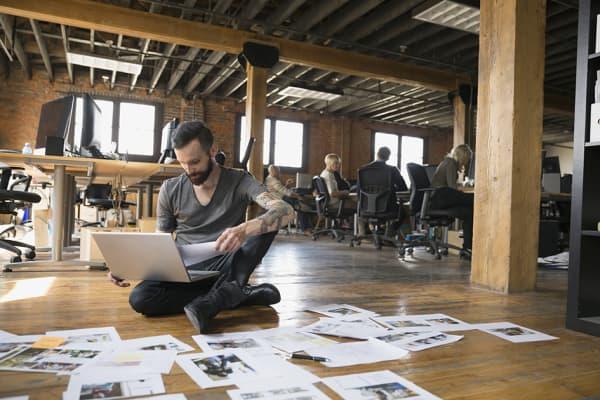 Entrepreneur running a business