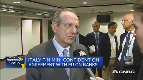 Confident on agreement with EU on banks: Italy Fin Min