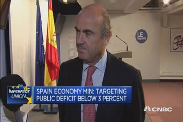 Targeting public deficit below 3 percent: Spain's de Guindos