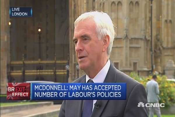 May has accepted number of Labour's policies: McDonnell
