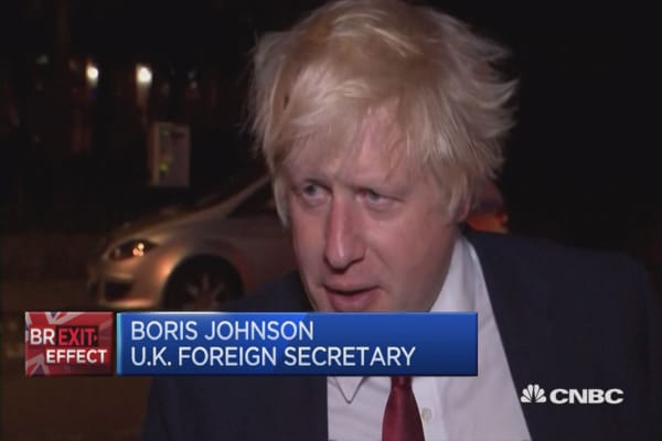 Big opportunity to succeed in relationship with EU: Johnson
