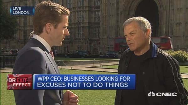 Firms looking for excuses not to do things: WPP CEO