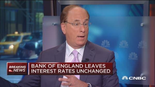 UK headed for recession: BlackRock's Fink