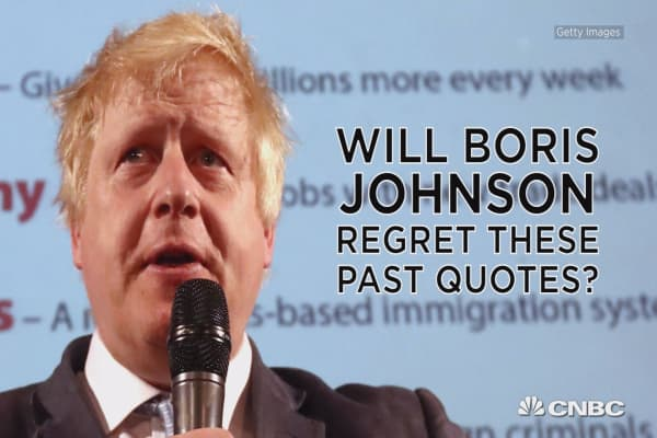 Boris Johnson in his own words