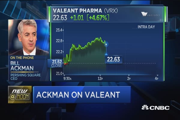Ackman: Valeant has a strong CEO