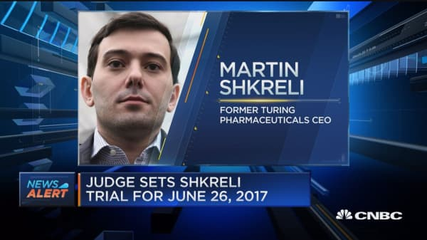 Shkreli trial to be June 26, 2017