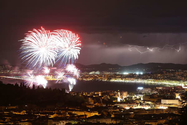 Celebrations take place on Bastille Day in Nice on Thursday July 14, 2016.