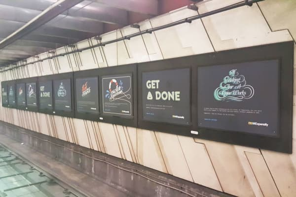 Expensify's subway campaign in San Francisco