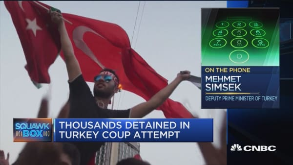 Thousands detained in Turkey coup