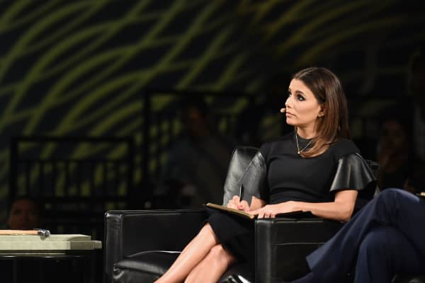 Eva Longoria judges entrepreneur pitches at Chivas: The Venture competition on July 14, 2016.