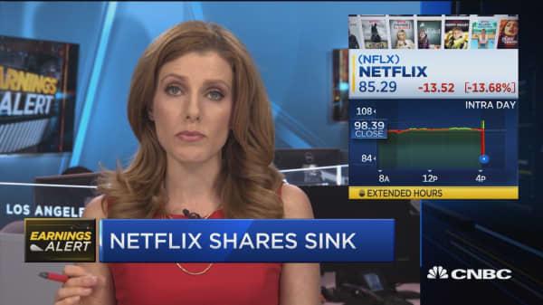 Netflix earnings beat but shares sink