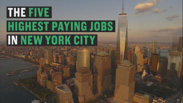 Find out which job rakes in the big bucks for NYC.