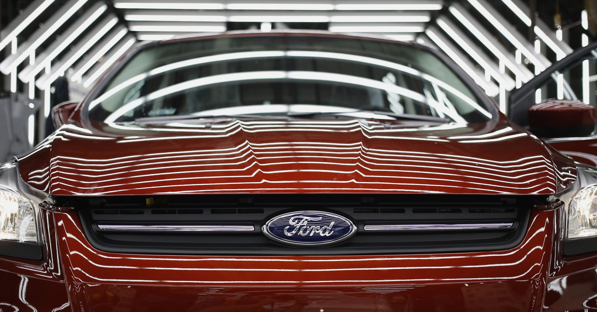 A ford escape sports utility vehicle suv undergoes final inspection during production at the