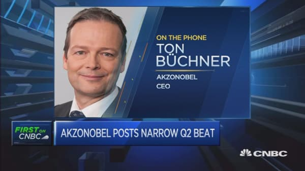 We've had record results this quarter: AkzoNobel CEO