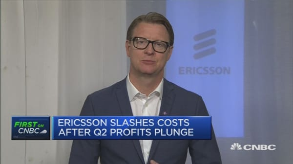 We have a new company structure: Ericsson CEO